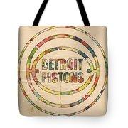 Detroit Pistons Vintage Logo Tote Bag