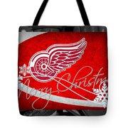Detroit Red Wings Christmas Tote Bag
