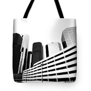 Detroit Ren Cen Tote Bag