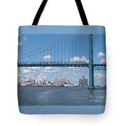 Detroit River Crossing Tote Bag
