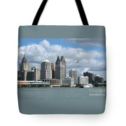 Detroit Riverfront Tote Bag