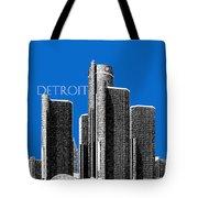 Detroit Skyline 1 - Blue Tote Bag