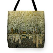 Detroit Skyline Abstract 4 Tote Bag