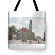 Detroit - United States Post Office - Fort Street - 1908 Tote Bag
