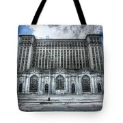 Detroit's Abandoned Michigan Central Train Station Depot Tote Bag
