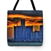 Detroits Sky Tote Bag by Nicholas  Grunas
