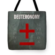 Deuteronomy Books Of The Bible Series Old Testament Minimal Poster Art Number 5 Tote Bag by Design Turnpike