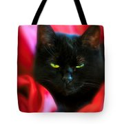 Devil In A Red Dress Tote Bag