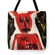 devil with NO GOOD tee shirt Tote Bag