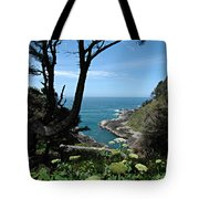 Devil's Churn Oregon Coastline Tote Bag
