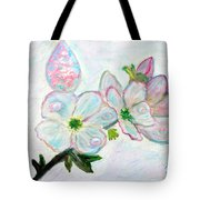 Dew And Smell Of Almond Flowers Tote Bag