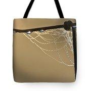 Dew And Webs Tote Bag
