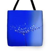 Dew Drops On Dandelion Seed Tote Bag