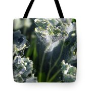 Dew Drops On Silvery Frill Tote Bag