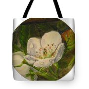 Dew Of Pear's Blooms Tote Bag