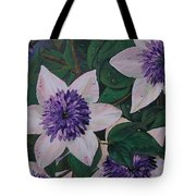 Clematis After The Rain Tote Bag
