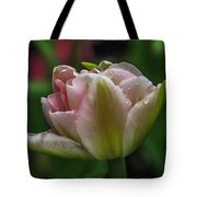 Dew On The Tulip Tote Bag