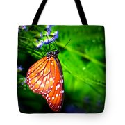 Dewdrop Butterfly Tote Bag