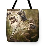 Dewdrops On A Web Tote Bag