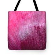 Dewdrops On Petal Tote Bag