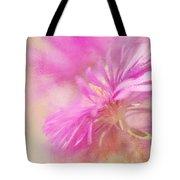Dewy Pink Asters Tote Bag by Lois Bryan