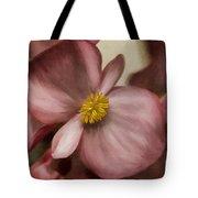 Dewy Pink Painted Begonia Tote Bag