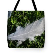 Dewy Swan Feather Tote Bag