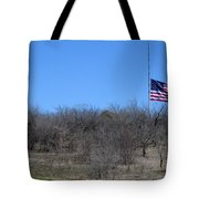 Dfw National Cemetery Flag On The Hill Tote Bag