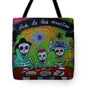 Dia De Los Muertos Familia Tote Bag