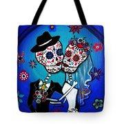 Dia De Los Muertos Kiss The Bride Tote Bag