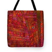 Diagonal Tiles In Reds Tote Bag