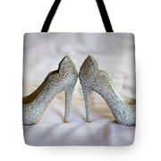 Diamante Wedding Shoes Tote Bag