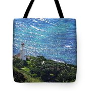 Diamond Head Lighthouse - Hawaii Tote Bag