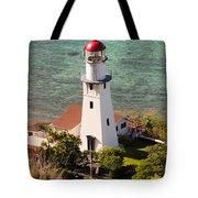 Diamond Head Lighthouse Honolulu Tote Bag