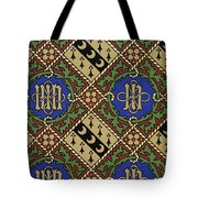 Diamond Print Ecclesiastical Wallpaper Tote Bag
