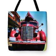Diamond T Truck - Tomato Red Tote Bag