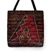 Diamondbacks Baseball Graffiti On Brick  Tote Bag by Movie Poster Prints