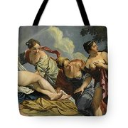 Diana And The Nymphs Surprised By Actaeon Tote Bag