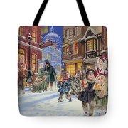 Dickensian Christmas Scene Tote Bag by Angus McBride