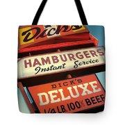 Dick's Hamburgers Tote Bag by Jim Zahniser