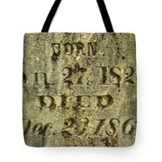 Died Tote Bag