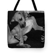 Diesel In Black And White Tote Bag