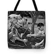 Digging Worms For Fishing Tote Bag