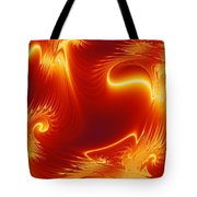 Digital Abstract Cello Music Tote Bag by Peter R Nicholls