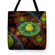 Digital Abstract Fractal Flame Art Tote Bag