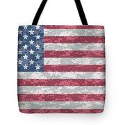 Digital Camo Us Flag Tote Bag