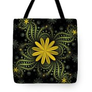 Digital Flowers Tote Bag