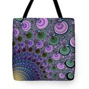 Digital Fractal Artwork Beautiful Colors Tote Bag
