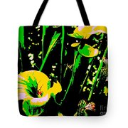 Digital Green Yellow Abstract Tote Bag