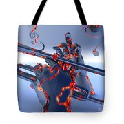 Digital Jazz Tote Bag